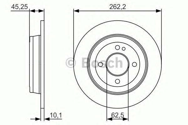 Тормозной диск 0986479A44