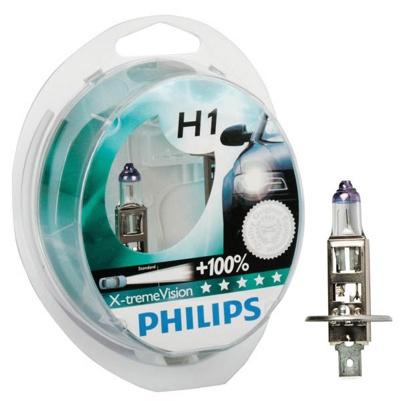 Лампа PHILIPS 12258XVS2 H1 12Vx55W (P14.5S) +130% X-TREME VISION (2шт)