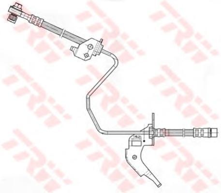 Шланг тормозной TRW PHD566 OPEL ASTRA H задн R (для задн диск)