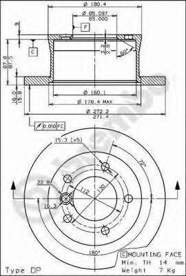 Диск тормозной Re MB Sprinter, VW LT