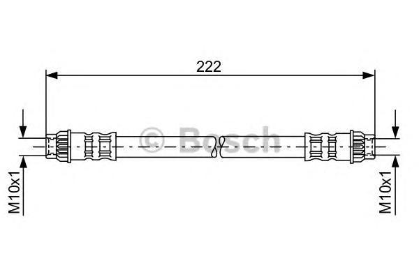 Шланг тормозной PEUGEOT/RENAULT 222мм зад.прав.