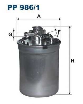 Фильтр топливный SK Fabia, Roomster 1.9TDI -10