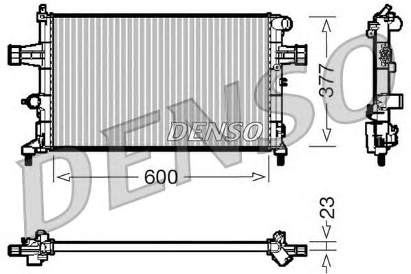 Радиатор системы охлаждения OPEL: ASTRA G Наклонная задняя часть (F48, F08) 1.4 16V/1.6 16V/1.8/1.8 16V/2.2 16V 98 - 05 , ASTRA G кабрио 1.8 16V/2.2 1