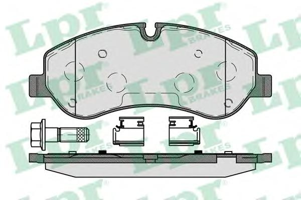 Колодки тормозные дисковые 05P1786
