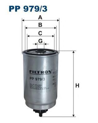 Фильтр топливный PP979/3