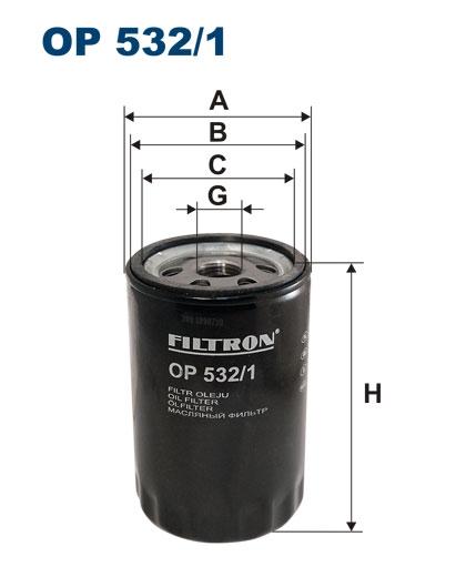 Фильтр масляный OP532/1