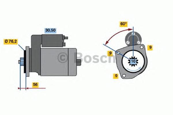 Стартер VW TRANSPORTER -03