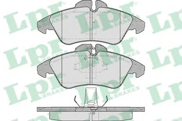 Комплект тормозных колодок 05P608