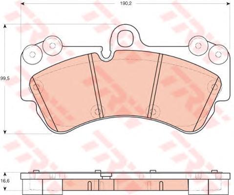 Колодки тормозные дисковые передн VW: TOUAREG 2.5 R5 TDI/3.0 TDI/3.0 V6 TDI/3.2 V6/4.2 V8 FSI/5.0 V10 TDI 02-