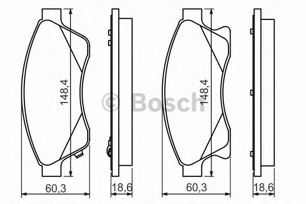 Колодки тормозные дисковые передние OPEL Astra J, CHEVROLET Cruze 0986494433