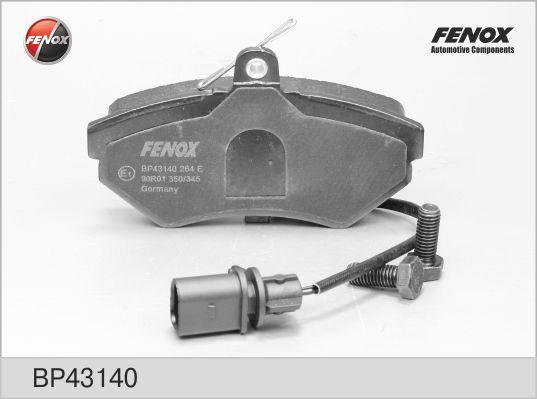 Колодки тормозные FENOX BP43140 AUDI A4 с датч толщ19,4 мм