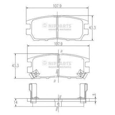Комплект тормозных колодок J3615005