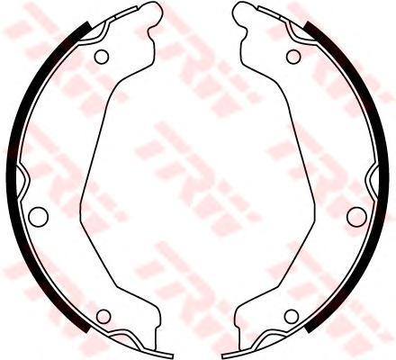 Колодки тормозные барабанные задн HYUNDAI: TERRACAN (HP) 01 -