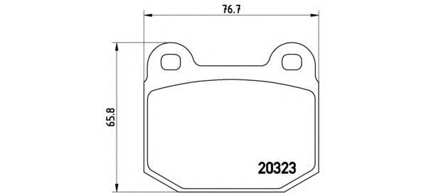 Колодки тормозные P59025