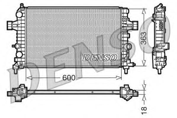 Радиатор охлаждения двигателя DRM20103
