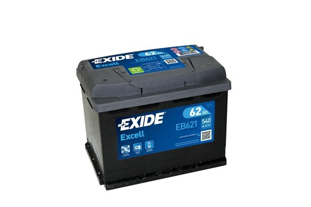 Аккумулятор EXIDE EXCELL 12V 62AH 540A ETN 1(L+) B13 242x175x190mm 15.56kg