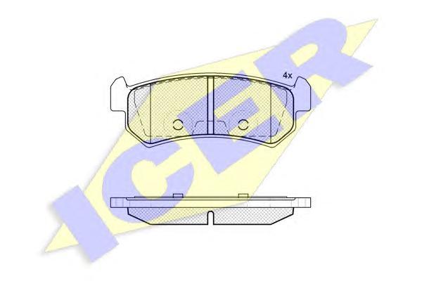 Колодки тормозные ICER 181727 Lacetti задн =GDB3348