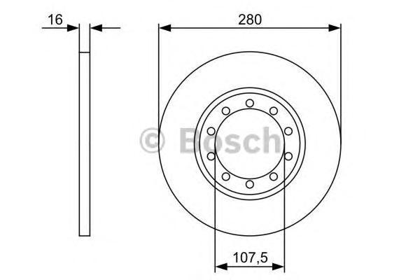 Диск тормозной FORD TRANSIT 2.4D/3.2D 06- задний