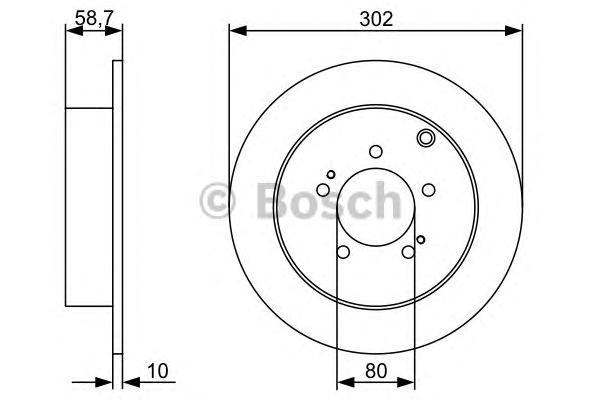 Диск тормозной CITROEN C-CROSSER/MITSUBISHI OUTLANDER/ASX/PEUGEOT 4007 задний