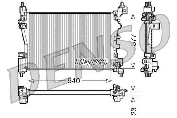 Радиатор системы охлаждения FIAT: PUNTO / GRANDE PUNTO (199) 1.2/1.4/1.4 16V 05 -
