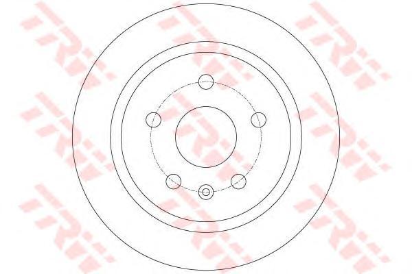 """Диск тормозной задний OPEL INSIGNIA 16"""" DF6312"""