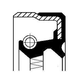 Сальник дифференциала R 58x70x8