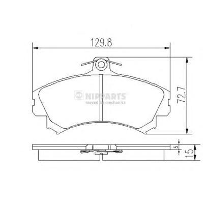 Комплект тормозных колодок J3605036