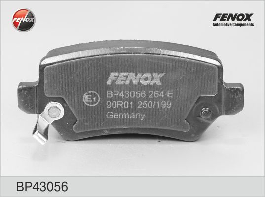 Колодки тормозные FENOX BP43056 OPEL ASTRA G/KIA VENGA задн с датч
