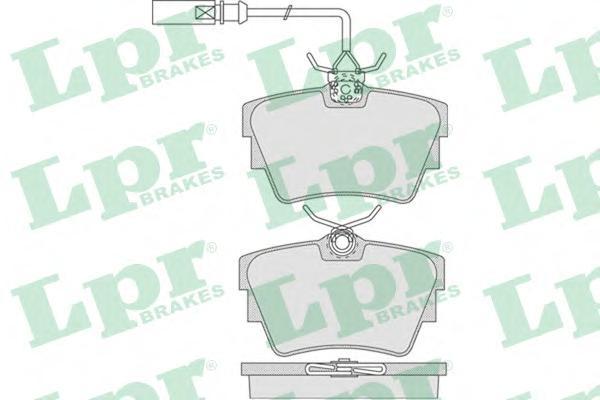 Колодки тормозные LPR 05P786 VW T4 98-00 94.7*51.2*16 2 датч