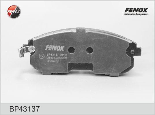 Колодки тормозные FENOX BP43137 NISSAN JUKE 10- пер
