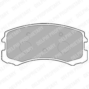 Колодки тормозные MITSUBISHI LANCER 1.3-2.0