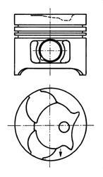 Поршень ДВС MB 2.3D/2.9D OM601/OM602 =89 2.5x2x3 +0.50 88>