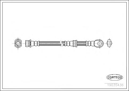 Шланг тормозной MITSUBISHI: PAJERO IV 3.2 DI-D/3.8 V6 06-