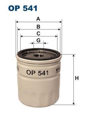 Фильтр масляный OP541