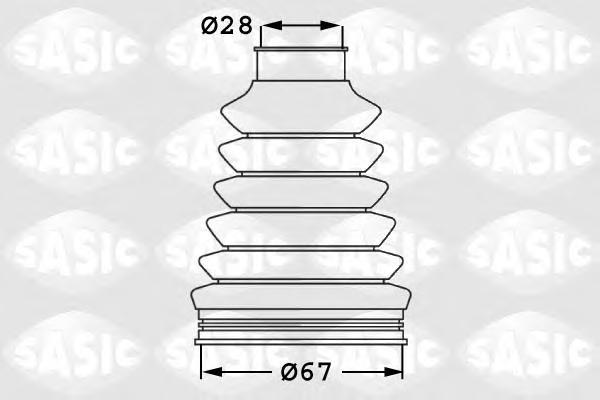 Пыльник ШРУСа внутр SKODA OCTAVIA (1Z), VW PASSAT (3C_, 36_) 1906023