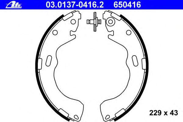 Колодки тормозные барабанные FORD - MAVERICK - 2.3 16V MAZDA - TRIBUTE (EP) - 2.0 4WD