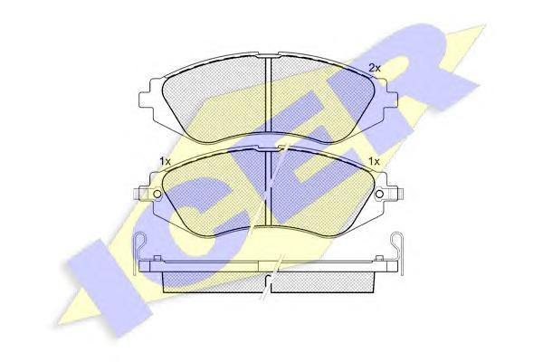 Колодки тормозные ICER 181263 Lacetti/NUBIRA пер =GDB3171=GDB3265=GDB3347