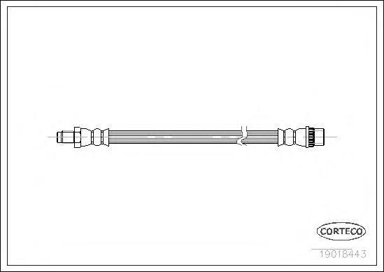 Шланг тормозной FIAT: PANDA 1000 i.e. KAT 80-04 \ LANCIA: Y10 1.1 i.e. Fire 85-95 \ RENAULT: 21 1.4/1.7/1.7/1.9 D 89-94, 21 универсал 1.7/1.7/1.7/1.7