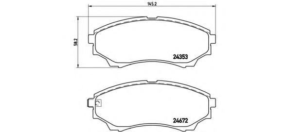 Колодки тормозные дисковые передн, FORD: RANGER 2.5 TDCi 4x4/3.0 TDCi 4x4 05-, RANGER 2.5 TD 4x4/2.5 TDdi 4x4/3.0 4x4/4.0 4x4 98-06 \ FORD AUSTRALIA: