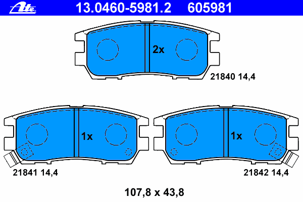 Колодки тормозные дисковые задн, MITSUBISHI: PAJERO II 2.4/2.5 TD 4WD/2.5 TDiC/2.8 TD/3.0 V6 24V/3.0 V6 4WD/3.5 V6 24V/3.5 V6 24V 90-99, PAJERO II Canvas Top 2.4/2.5 TD 4WD/3.