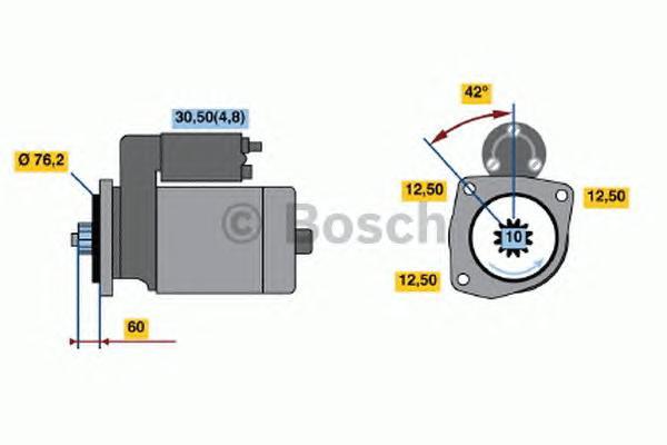 Стартер BOSCH 0001120410 Skoda Octavia/Yeti 1.2TSi