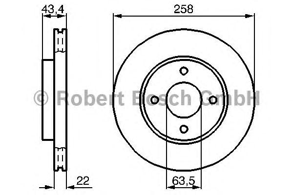Тормозной диск 0986478892