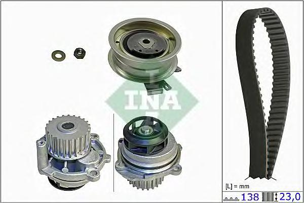 Комплект ГРМ с водяным насосом AUDI. VW 1.6 AHL/ANA/ARM 94