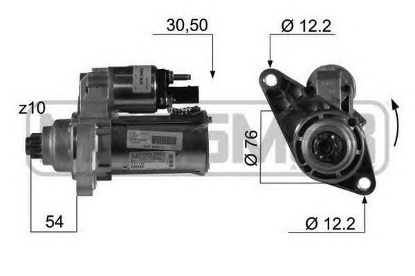 Стартер ERA 220446 Audi A3 03-08 1.6, 2.0