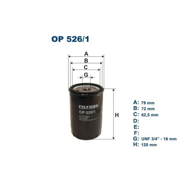 Фильтр масляный OP526/1