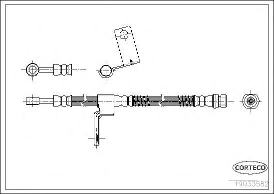 Шланг тормозной Fr L 475мм Hyundai Getz 02-09