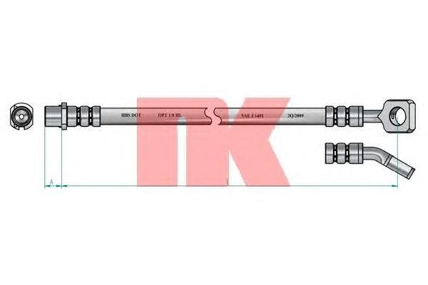 Шланг тормозной задний / OPEL Vectra-C, Signum 02 ~