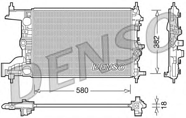 Радиатор системы охлаждения CHEVROLET: CRUZE \ DAEWOO: LACETTI \ OPEL: ASTRA J 1.4 ECOFLEX/1.6 09-\ VAUXHALL: ASTRA MK VI 1.4 I 16V VVT/1.6 I 16V VVT 09-