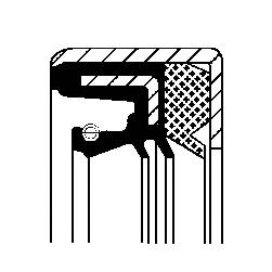 Cальник первичн.вала 28x43/60x66,7 [в корпусе]