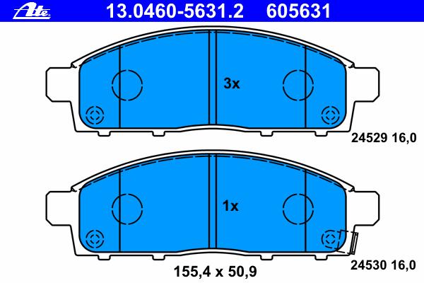 Колодки тормозные дисковые передн, MITSUBISHI: L 200 2.5 DI-D/2.5 DI-D/2.5 DI-D 4WD/2.5 DI-D 4WD/2.5 DiD/3.2 DI-D 4WD/3.5 4WD 05-, L 200 c бортовой платформой 2.4/2.5 DI-D 4WD